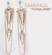 Earrings Patina Spikes
