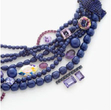 Crystal Dark Lapis Pearl is the perfect base for multiple color combinations such as all shades of violets