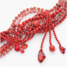 Crystal Red Coral Pearl